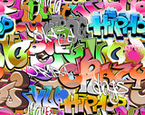 Fototapety Graffiti seamless background. Urban art texture