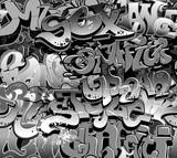 Fototapety Graffiti seamless background. Urban art texture
