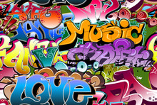 Graffiti de fond sans soudure. Art Hip-hop