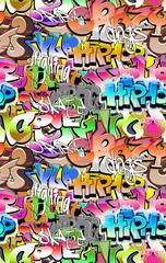 Graffiti seamless background. Urban art texture