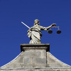 Dublin CastleStatue of Justitia - Dublin, Ireland (Irland)