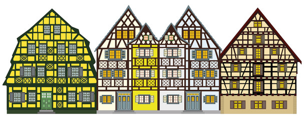 Traditional houses from the middle-age anywhere in Europe