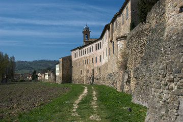 Outside town walls of Bevagna, Italy