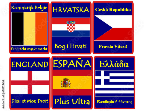 National emblem motto belgium croatia czech england spain
