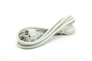 White Power Plug, White Background