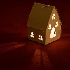 Haus mit Teelicht