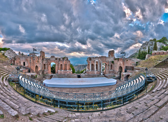 Greek theatre at Taormina, Sicily
