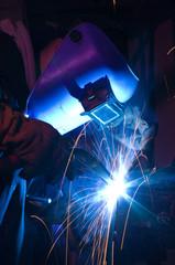 MIG welding of metal cylinder