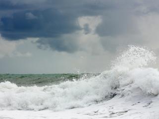 Amazing power of storming sea