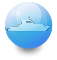"Shiny Orb Button ""Yacht"""