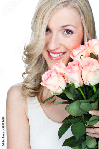 sweet woman with flowers