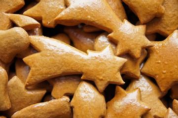 Baked christmas stars