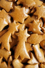 Non decorated gingerbread cookies