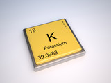 Potassium chemical element of the periodic table with symbol K poster