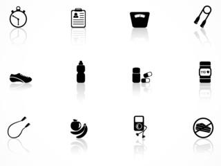 Exercise equipment icons