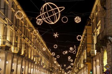 Torino di notte (Via Po)