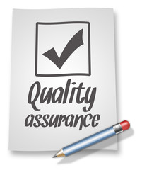 "Paper & Pencil Illustration ""Quality Assurance"""