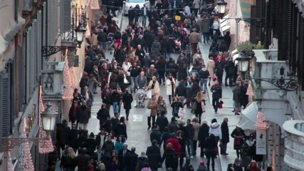 people walking slow motion