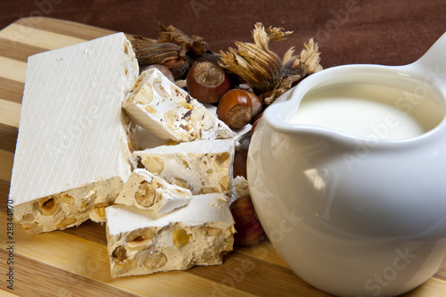 nougat and hazelnuts