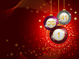 Bingo ball bauble background landscape