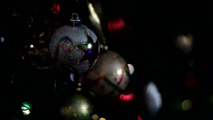 lumières du sapin de Noël