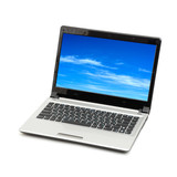 blue sky in laptop