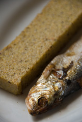 missoltini (agoni) con polenta