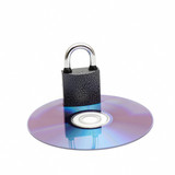 Lock on a cd