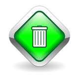 """BIN"" Web Button (trash delete erase empty waste scrap recycle)"