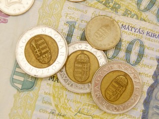 Hungaria forint currency money - banknotes and coins