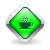 COFFEE BREAK Button (cup web button caffeine addict pause relax) poster