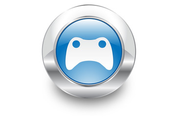 Metal Bubble button icon Games