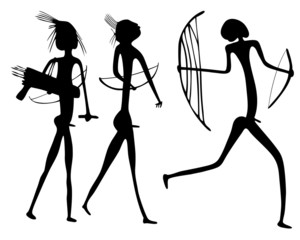 warriors - primitive art
