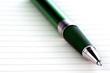 Kugelschreiber auf Notizzettel