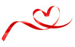 canvas print picture - Heart a red tape