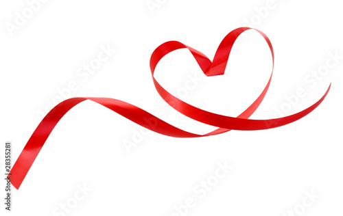canvas print picture Heart a red tape