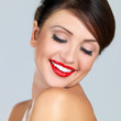 Portrait of beautiful woman, she is smiling