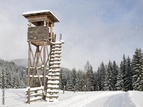 hochsitz im winter - 28358891