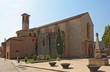Old Romanesque church in Catalan town Montblanc poster