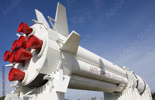 Rocket at Kennedy Space Center, florida, USA