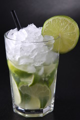 Caipirinha Cocktail - Black Background