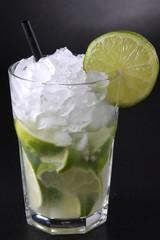 Caipirinha Cocktail - Black Background