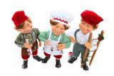 Three elves at Chritsmas SMiling poster