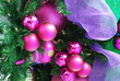 Hot pink Christmas tree bulbs