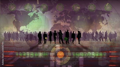 Video motion background: Economy