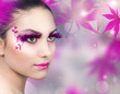 Beautiful Girl. Creative Fashion Makeup