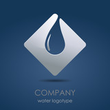 Logo water drop in blue # vector
