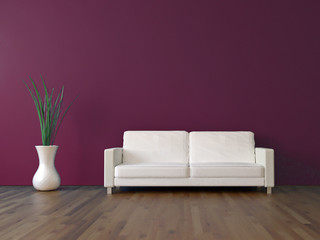 3d Sofa Rendering purpur