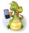 Dragon et téléphone portable