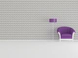 Modern interior design, minimalism poster